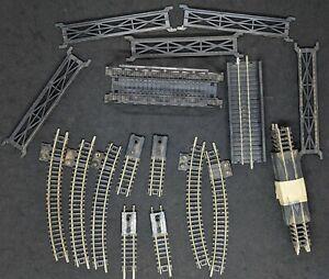 ATLAS N Gauge: Track MIXED Rerailers Bumpers Bridge etc*  21 PIECE LOT * VINTAGE