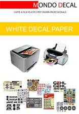 CARTA DECALCOMANIE, WATERSLIDE DECAL PAPER (12 A4 FONDO BIANCO) INKJET & LASER