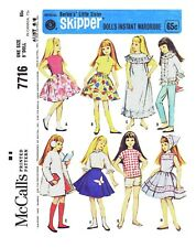 McCall's Skipper Doll's Wardrobe Fabric Material Sewing Pattern #7716