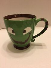 Starbucks Halloween Green /Brown Two Eyed Monster Cup/Mug 2007