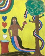 Mermaid in Love Painting by Contemporary Haitian Artist Herold Nielsen 2018