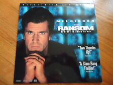 Ransom Someone Is Going To Pay Laser Disc Movie Starring: Mel Gibson 139 Minutes