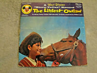 """WALT DISNEY The Littlest Outlaw '55 VINTAGE 10"""" EP MICKEY MOUSE CLUB 78rpm Story"""