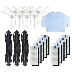 For 360 S6 Sweeping Robot Accessories Brushes Side Roll Brushes Filters Set