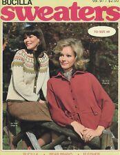 Vintage Bucilla Sweaters Pattern Book Vol. 91