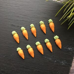 40 x Mini Edible Carrot Cake Toppers & Decorations | Sugar Cupcake Decoration