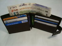 Gents Soft Leather Wallet for 12 Cards with Back Zipper Bifold