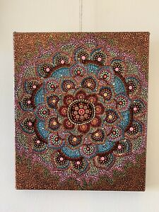 Original artwork. Dot mandala painting