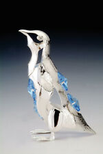 Penguin FIGURINE - ORNAMENT SILVER PLATED WITH AUSTRIAN BLUE CRYSTALS