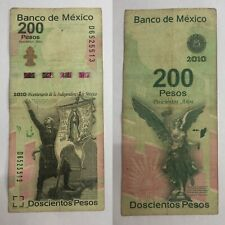 🇲🇽Mexico Rare Commemorative Paper Banknote 2008-2010 $200 Mexican Pesos World