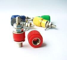 4mm Binding Post Terminal Speaker DC Test Etc 5 Colour Solder Lug (5pack) - UK