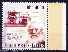 S. Tome MNH, Samuel Morse, Invented 1st Telegraph Machine  - In63