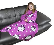 Kids Official Hello Kitty Fleece Sleeved Snuggle Wrap Blanket FREE POSTAGE