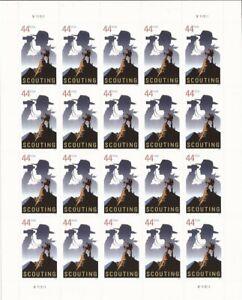 US Stamp - 2010 Boy Scouts Centennial - 20 Stamp Sheet - Scott #4472