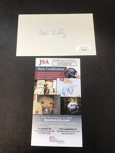 Bob Lilly Dallas Cowboys Football Signed Index Card 3x5 JSA CERTIFIED AUTOGRAPH