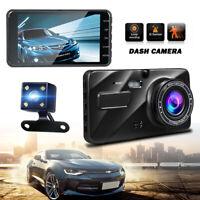 """4"""" 140 170 Wide Angle Camera 1080P FHD Dash Cam G-Sensor Parking Monitor For Car"""