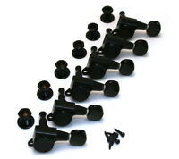 NEW - Gotoh BLACK Sealed 6 Inline Mini Tuners for Strat/Tele Guitar TK-0760-003