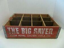 Vintage RC Royal Crown Cola THE BIG SAVER Drink Crate RARE ESTATE FIND