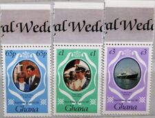 GHANA 1981 895-97 759A-60B Wedding Prince Charles & Diana Spencer Royals MNH
