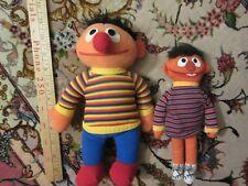 Vintage Knickerbocker Sesame Street Ernie Doll Plush lot of 2