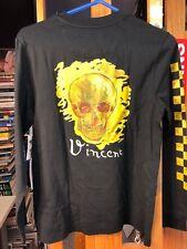 Vans Vincent Van Gogh Skull Long Sleeve T Shirt Size Unisex Medium VN0A3QY8BLK