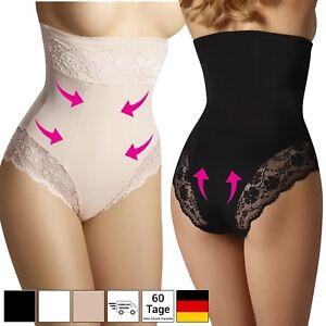 COMFREE Hohe Taille Miederslip Bauch Weg Stark Formend Shapewear Slip Figurformende Unterhose Damen Schwarz Beige