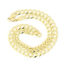 Men's Solid 14k Yellow Gold Comfort Cuban Curb Heavy 8.3mm Chain Necklace, 22""