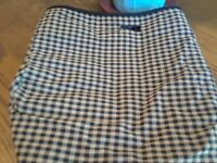 Longaberger~ Khaki Check w/Trim Liner for Sort & Store Large Desktop Basket EUC!