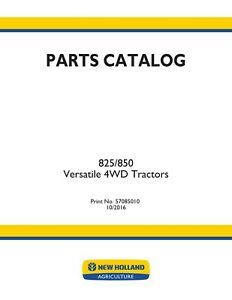 NEW HOLLAND V47410 825 850 4 WD Tractor PARTS CATALOG