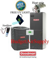 2.5 ton 14 SEER HEAT PUMP 410a Goodman System GSZ140301+ARUF31B14+UV+Hard Start