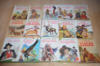 LOT 15 livres Collection la BIBLIOTHEQUE VERTE - anciens avec jaquette