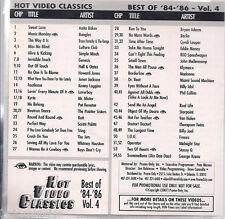 Promo only video classics: Best of 1984-1986 vol.4 DVD Jets FREEZ loverboy RATT