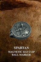 Golf Ball Marker - Magnetic Hat Clip - Metal - Spartan warrior