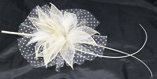 Fascinator With Mesh Sinamay Flowers And Clip