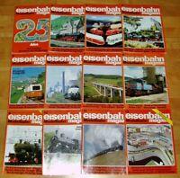 12x Eisenbahn Modellbahn 1988 Magazin komplett Hefte 1-12 Sammlung Modellbau Lok