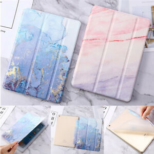 Marble Smart Flip Case Cover For iPad mini Air 6th 7th Generation 9.7 10.2 `