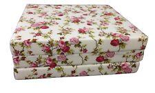 RED ROSE W TRIFOLD FOAM BED, FLOOR FOLDING MAT 3 x 27 x 75, DENSITY FOAM 1.8 LBS