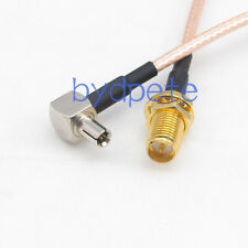 6inch RG316 TS9 male right angel to RP-SMA female RF Pigtail Jumper Cable 15cm