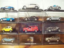 A CHOICE OF VARIOUS 1/43 CONCEPT CARS ALL AT £10 OPEL PEUGEOT RENAULT VOLKSWAGEN