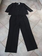 Damen Anzug Hosenanzug Anzug Kombination Hose Sakko Blazer schwarz Gr. 50