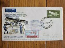 Australia 1964 50Th Anniv First Air Mail Commem Flight With Cinderella Cover