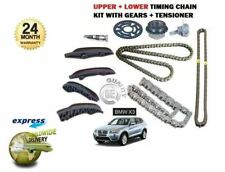 FOR BMW X3 2.0D E83 F25 20D XDRIVE  2007-> UPPER + LOWER TIMING CHAIN KIT SET