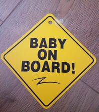 Baby on board signs Car baby on board sign with suction cup Baby Safety Sign