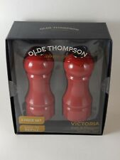 Olde Thompson Red Victoria Salt And Pepper Shakers. New