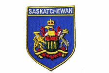 SASKATCHEWAN  Blue Shield CANADA Provincial Flag IRON-ON PATCH CREST BADGE