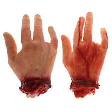 Halloween Fake Bloody Hand Latex 4 Finger Horror Prop Decor Trick Toy yxx24