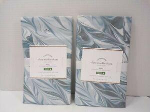 Pottery Barn Clara Marble Organic Sham King S/2 Blue #9910