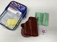 DeSantis 019TA0CZ0 Mini Scabbard Holster Tan Leather RH for Glock 43 TLR6