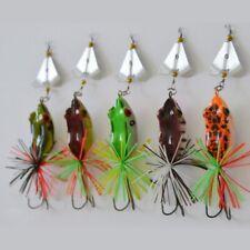1/5pcs Fishing Lures Frog-Topwater Crankbait Hooks Bass-Bait Tackle Noise-Frog