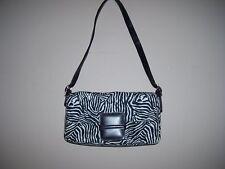 Apostrophe Black & White Zebra Print Shoulder Handbag EUC